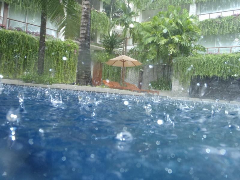 Swimming in the rain - Phuket