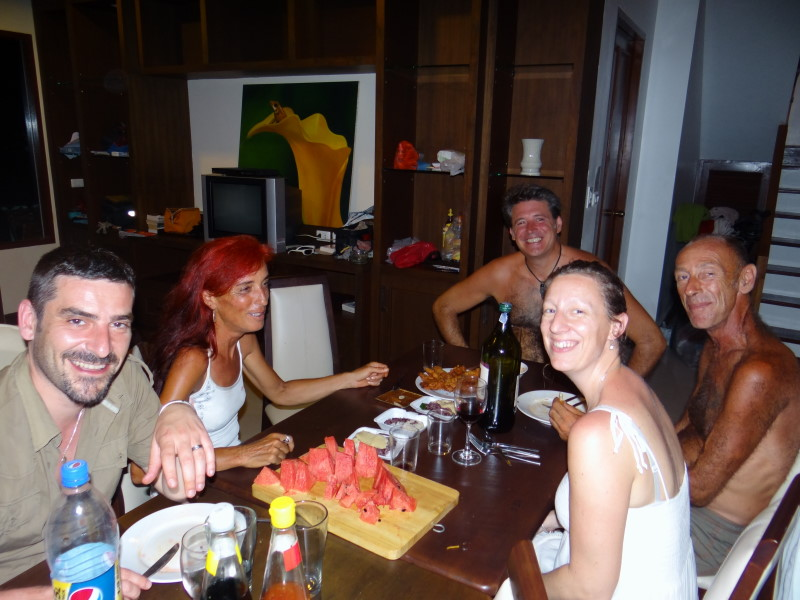 Phuket - meeting again our lovely friends Chantal et Patrick with their family