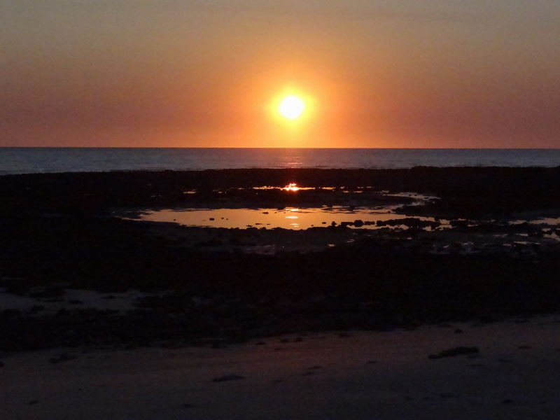 sunset at quondong beach