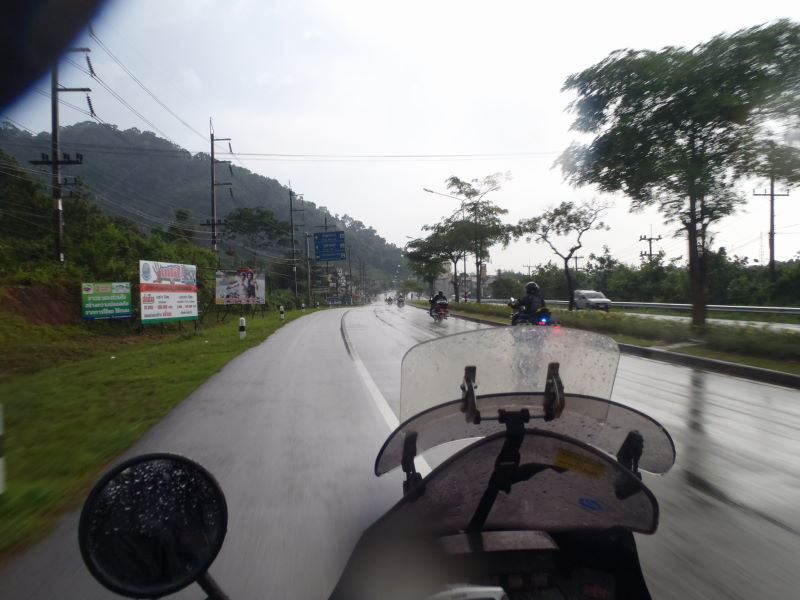 heavy rain in Ranong  - heading inland into the Lamnam Kra Buri National Park