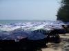 crowded beach in  Cha-am