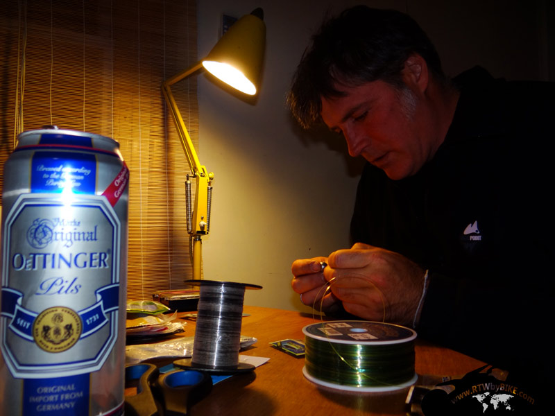 fishing preparation and German beer