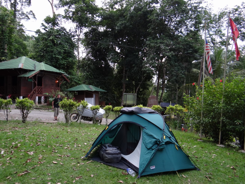 "camping in the nature park, ""Gunung Stong\"""