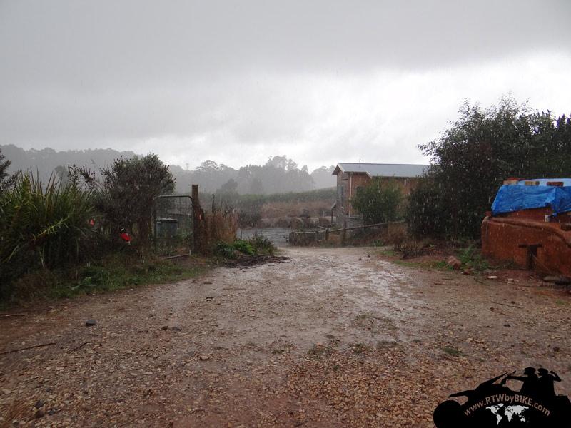 pouring rain... brrrrrrrr