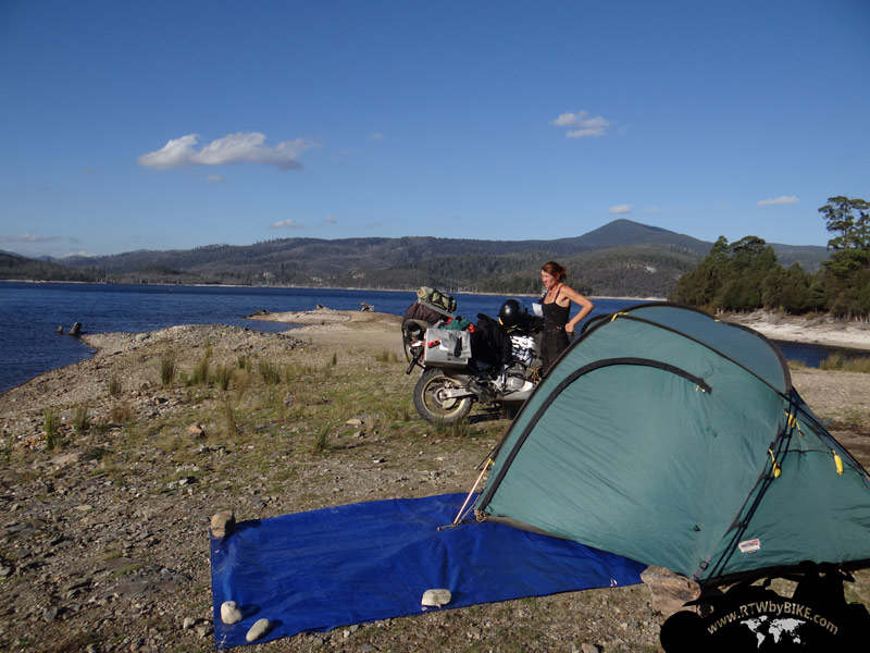 Camping at the lake