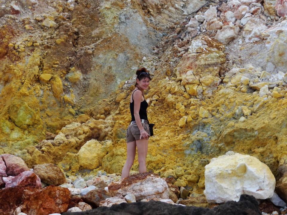 Lombok - Kuta, sulfer rocks