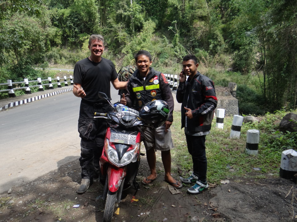 Flores - some bike friends in the middle of the jungle ;-)