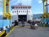 Flores - our ferry - still empty, how nice!