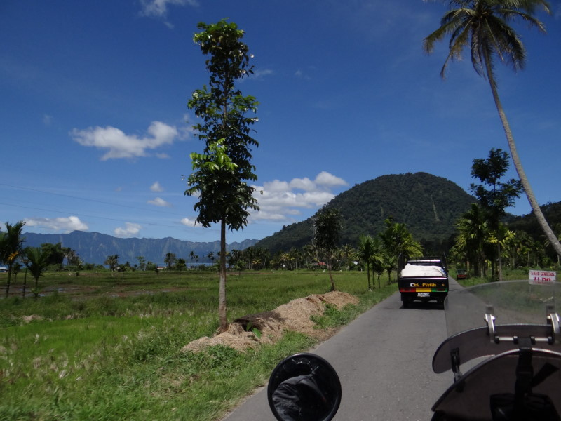 leaving Lake Maninjau