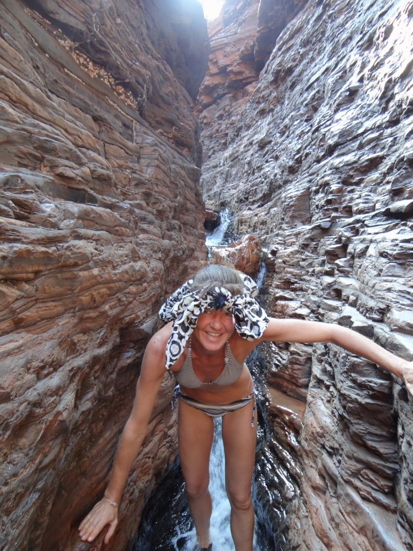 climbing, Hancock Gorge, Karijini