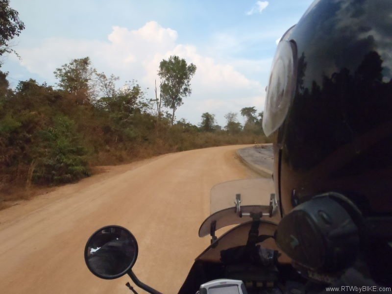 first kilometers in Cambodia
