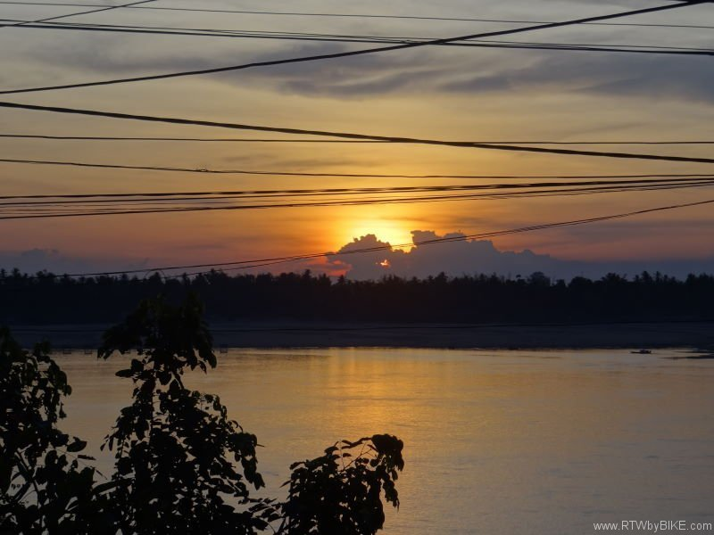 sunset at Mekong, Kratie