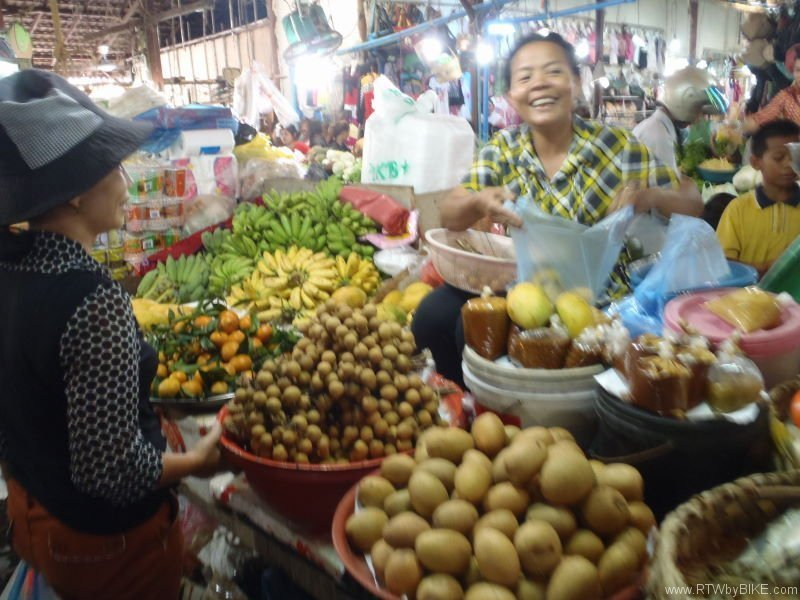 food market Siam Reap
