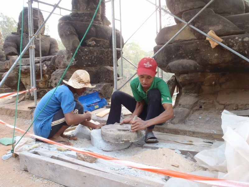 conservation and restoration works at Angkor