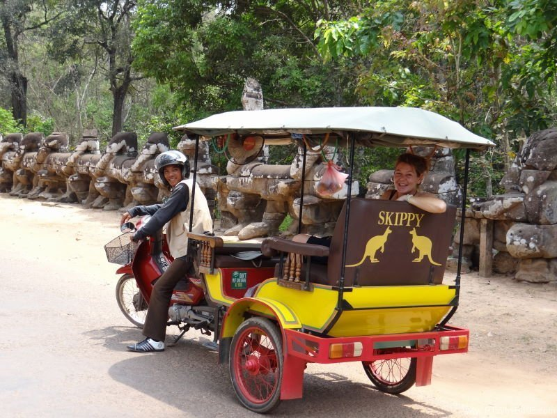 our tuktuk gives us a rest from time to time, Angkor Wat