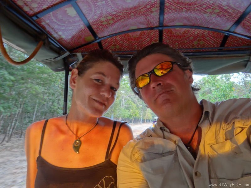 happy having a Tuktuk. Angkor Wat