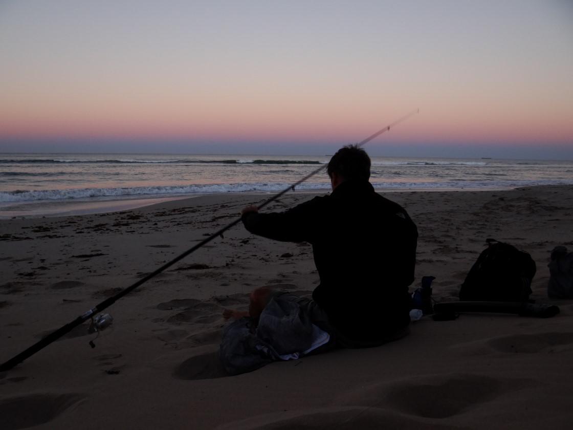 early morning fishing tour