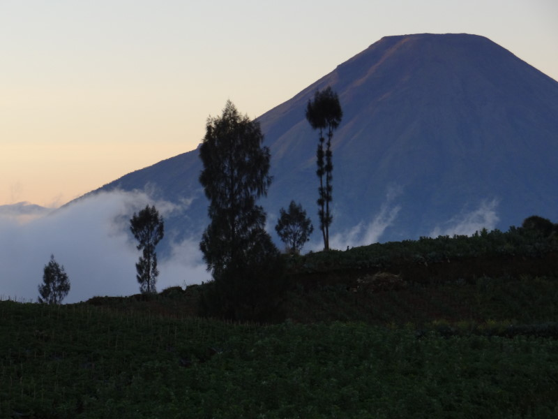 Dieng Plateau sits at 2,000 metres above sea level