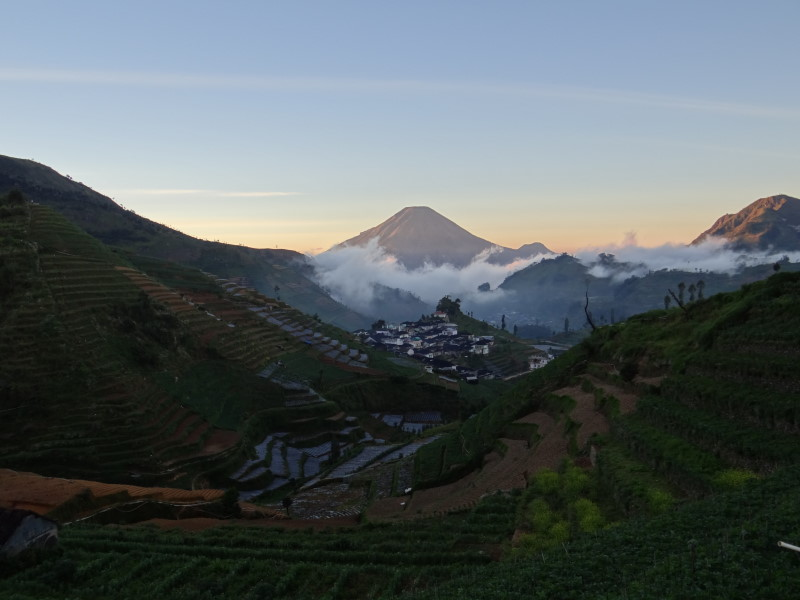 "The name ""Dieng\"" comes from Di Hyang which means \""Abode of the Gods\""."