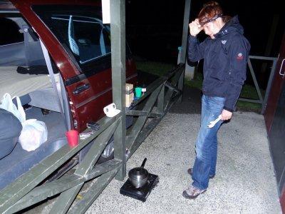 Mahurangi, preparing night dinner