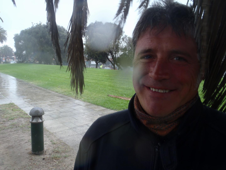 Rain at the port in Melbourne