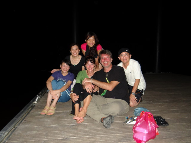 sympathic family from Klang, Lake Chini