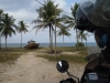 enjoying riding along the beach over narrow roads