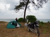 night stay at the beach - the tent the bike and... us