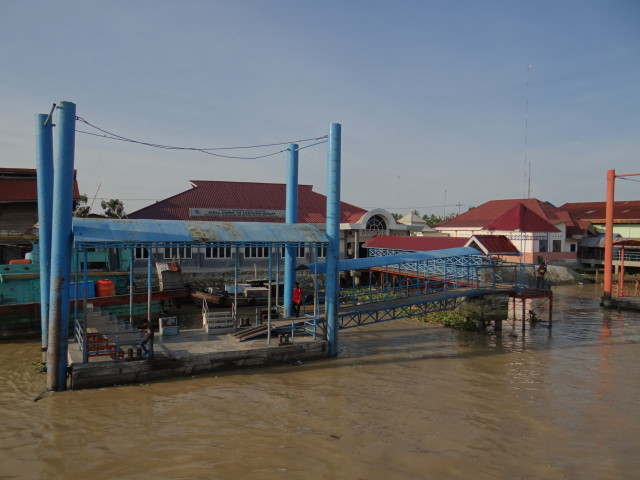 landing bridge in Tanjung Balai, arrival Indonesia