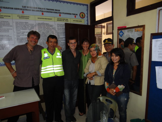 Tanjung Police department with Ida - letter is done