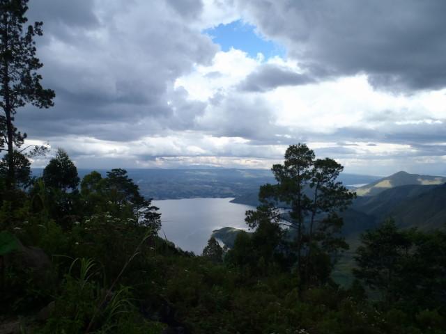 first view on Lake Toba