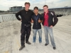 Sascha and Martin with our agent