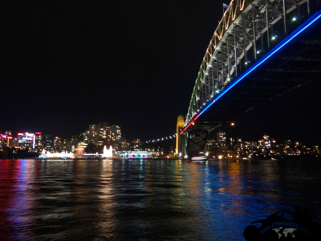 The Sydney Harbour Bridge at the VIVID Light SHOW
