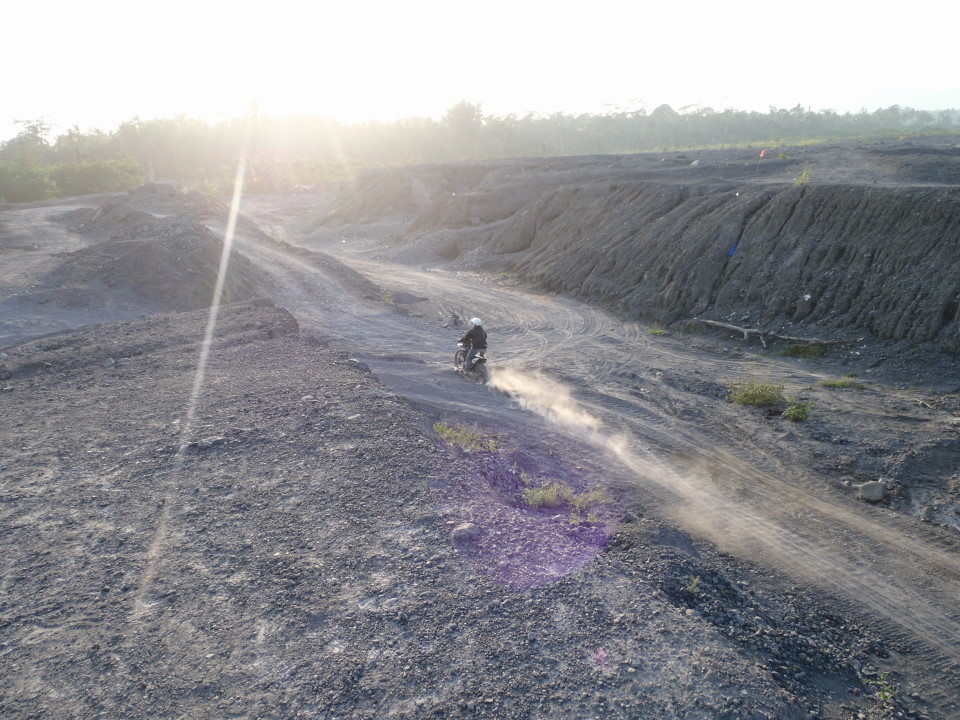 Mt Merapi - Ashes road