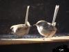 bird feeding station on our BBQ