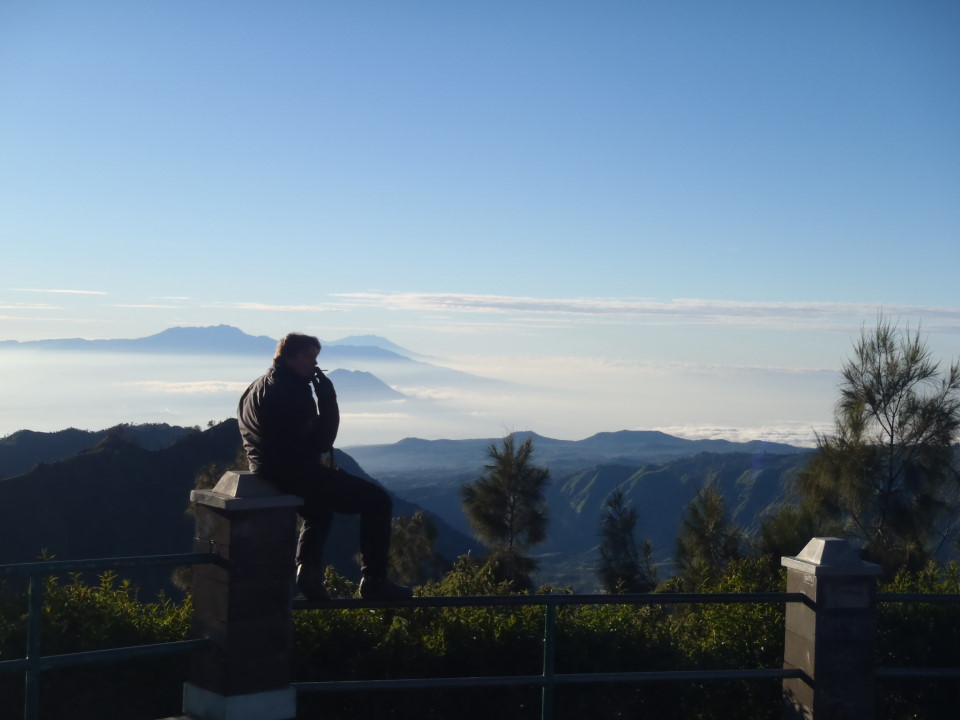Mount Semeru (the highest in Java at 3,676 m)...