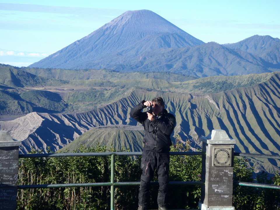The volcano belongs to the Bromo Tengger Semeru National Park