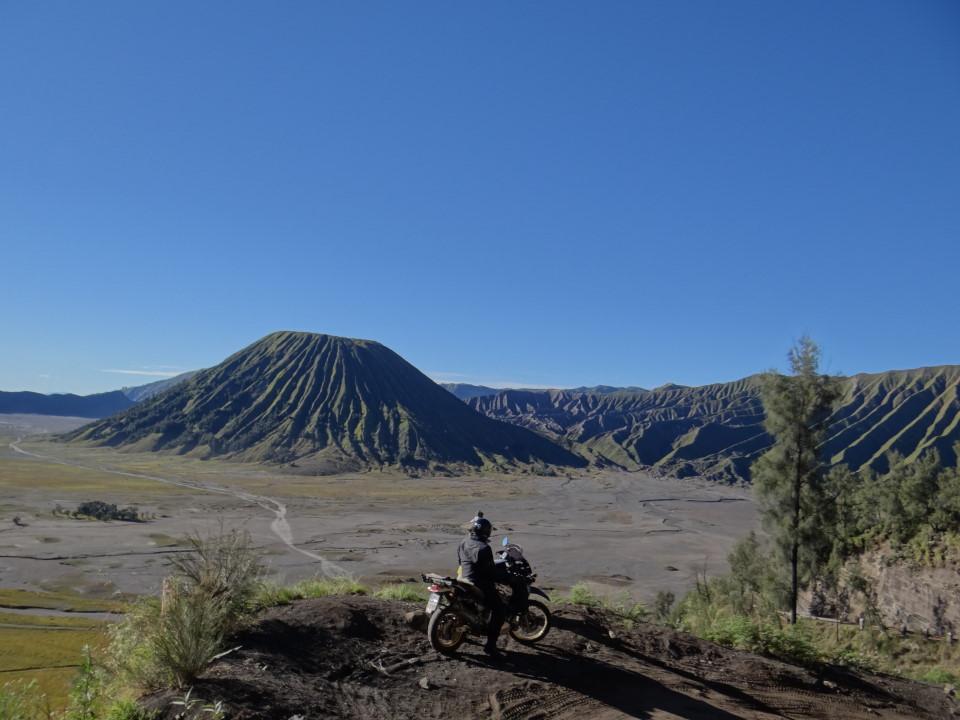 Mt Bromo sits inside the massive Tengger caldera...