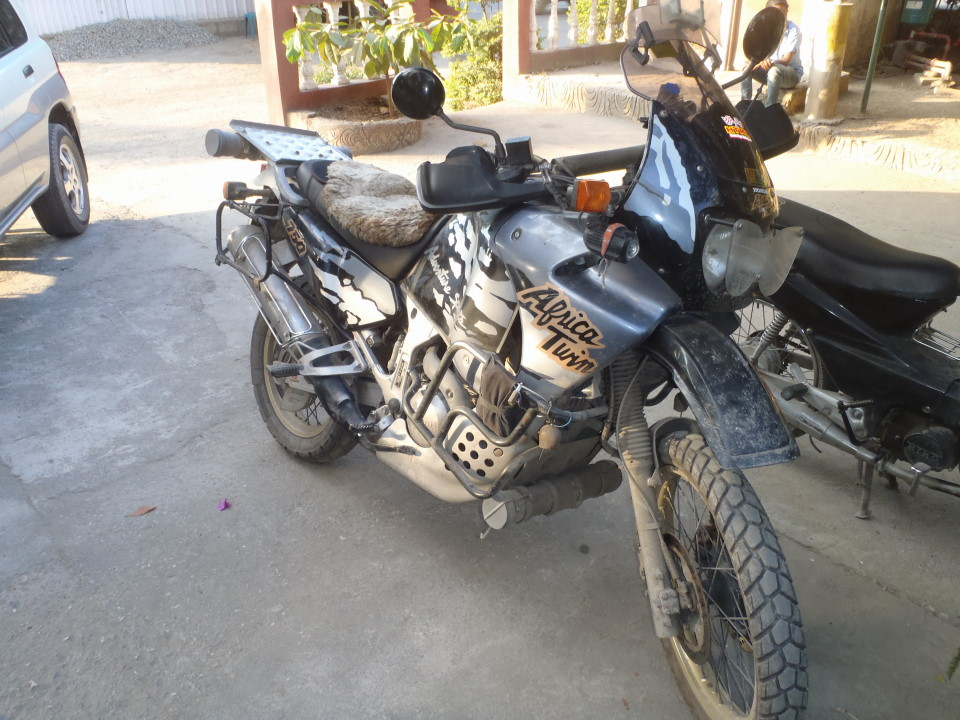 dirty bike - in the compound in Dili