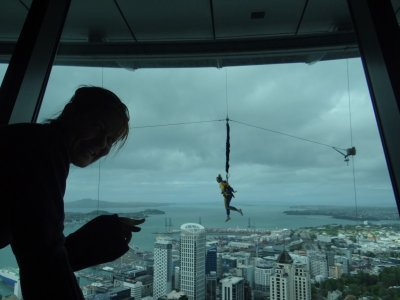 Sky tower bungee jump