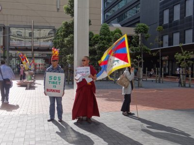 Auckland demonstration for tibet rights