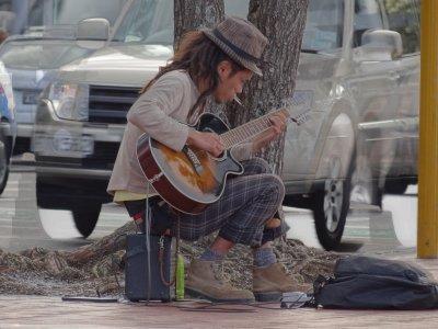 Auckland - street musician