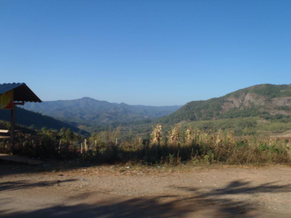 along the Burma border direction north