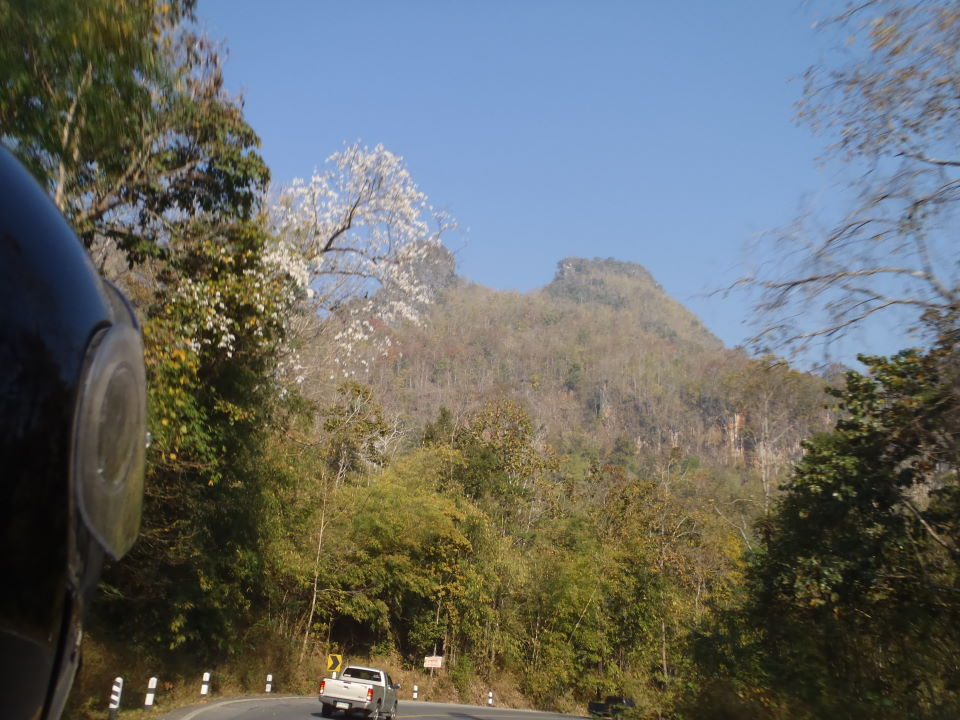 along the Burma border direction north
