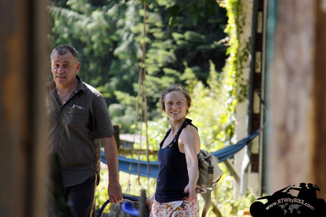 visitors Barbara and Prenger, Jägerhaus