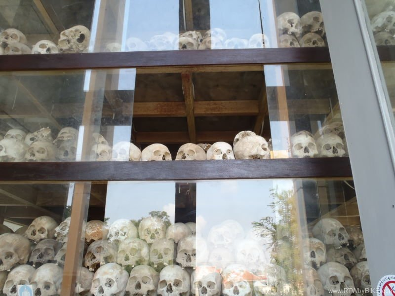 The Choeung Ek memorial (The killing fields)
