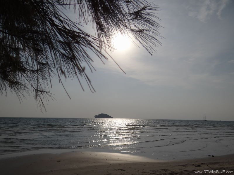 hut view, Otres Beach, Sihanoukville