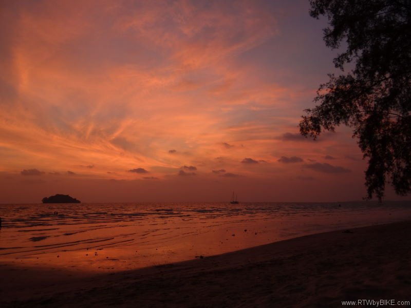 sunset, Otres Beach, Sihanoukville