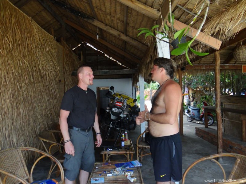 meeting Harry, Otres Beach, Sihanoukville