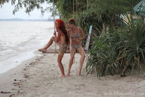 with Chantal, Otres Beach, Sihanoukville